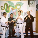 At the old Leeson St Martial Arts Academy with Darren, Shay MacNamee & Dave